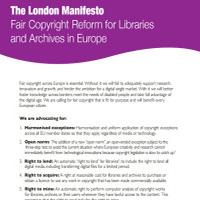 Manifiesto de Londres para bibliotecas y archivos | Comunicación Cultural