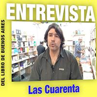 """Néstor González, editor de la editorial argentina """"Las Cuarenta"""""""