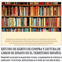 Petición de colaboración para realizar un estudio sobre los hábitos de compra y lectura de libros de ensayo en España