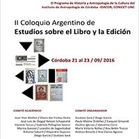 II Coloquio Argentino de Estudios sobre el Libro y la Edición