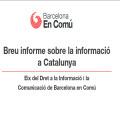 Breu informe sobre la información a Catalunya