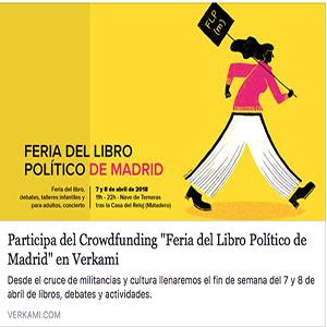 Colabora en el crowdfunding de la Feria del Libro Político de Madrid (7 y 8 de abril)